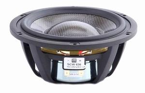 "MOREL SCW-636, 6"" bass/midrange, Carbon fibre/Rohacell cone<br />Price per piece"