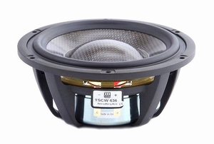 "MOREL TSCW-636, 6"" bass/midrange, Carbon fibre/Rohacell cone<br />Price per piece"