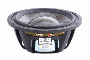 """MOREL TSCW-636, 6"""" bass/midrange, Carbon fibre/Rohacell cone"""