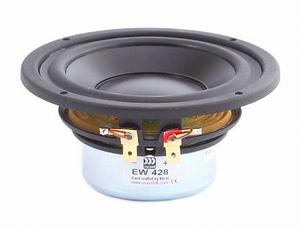 "MOREL EW-428, 4"" bass/midrange, improved DPC cone"
