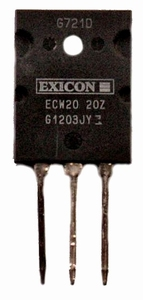 EXICON ECW20N20S, 16A/200V, 250W Mosfet, N-ch., TO264, selec