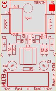 ELTIM Bout/Lin-2134, line to balanced converter module, 0dB