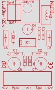 ELTIM Lout/Bin-1200, balanced to line converter module, 0dB<br />Price per piece