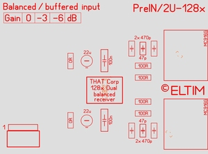 ELTIM Pre 330 balanced IN buffer module<br />Price per piece