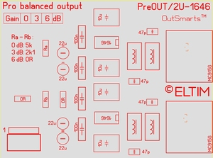 ELTIM Pre 330 Balanced OUT buffer module