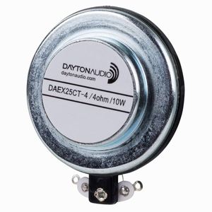 Dayton Audio DAEX25CT-4, Coin Type 25mm Exciter 10W 4 Ohm<br />Price per piece