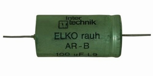 IT ERA/27/100/1, bipolar cap, 27uF, 100V, 10%, raw foil<br />Price per piece