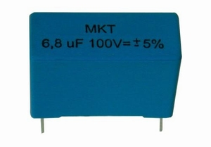 IT MKTR-2.2/100, MKT cap, 2,2uF, 100V, 5%, radial<br />Price per piece