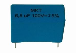 IT MKTR-10/100, MKT cap, 10uF, 100V, 5%, radial