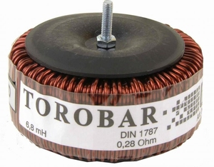 IT TO10/2.2, TOROBAR ring coil, 2,2mH, Ø100mm, R=0,12<br />Price per piece