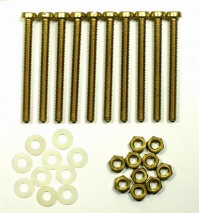 IT BEF008, Brass mounting bolts/nuts/rings for mounting of c