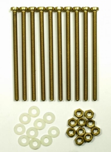 Brass mounting bolts/nuts/rings for mounting of DR56/61 coil<br />Price per 10 pieces