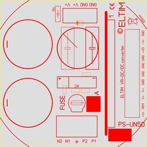 ELTIM PS-UN50EC , Netzteil Modul, 50V, 5A max<br />Price per piece