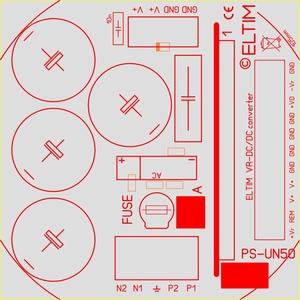 ELTIM PS-UN50HQ LP , Power Supply module, 50V, 6A max