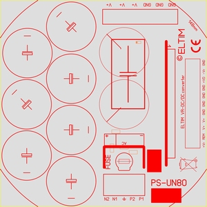 ELTIM PS-UN80HQ , Power Supply module, 80V, 15A max