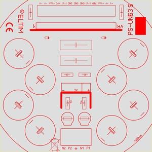 ELTIM PS-UN63S RQ LP, Power Supply +/-63V, 10A max.
