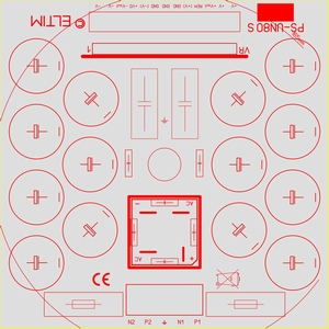 ELTIM PS-UN80S HQ LP, Voedingsmodule +/-80V, 15A max.<br />Price per piece