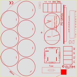 ELTIM PS-UN100EC, Power Supply module, 100V, 25A max<br />Price per piece