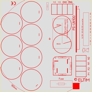 ELTIM PS-UN100RQ LP, Voedingmodule, 100V, 25A max<br />Price per piece
