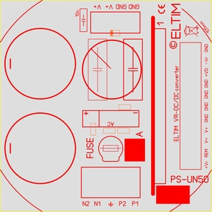 ELTIM PS-UN50RQ+ , Netzteil Modul, 63V, 6A max<br />Price per piece