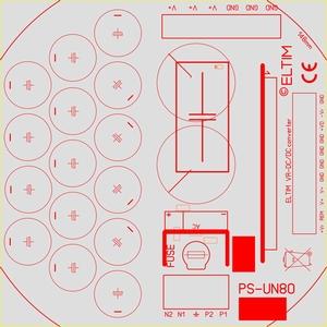 ELTIM PS-UN80ST , Netzteil Modul, 80V, 15A max<br />Price per piece