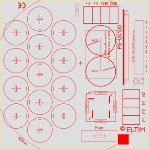 ELTIM PS-UN100RQ LP+, Voedingmodule, 100V, 15A max<br />Price per piece