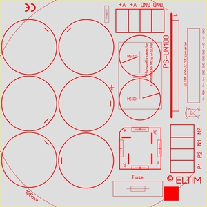 ELTIM PS-UN100PRO, Netzteil Modul, 80V, 25A max<br />Price per piece