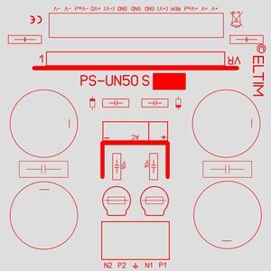 ELTIM PS-UN50S RQ LP, Voedingsmodule +/-40V. 5A max.<br />Price per piece