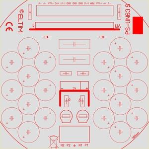 ELTIM PS-UN63S LP, Power Supply +/-63V, 10A max.<br />Price per piece