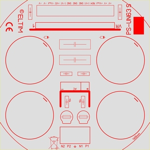 ELTIM PS-63S HQ+, Netzteil Modul, +/-63V, 15A max.<br />Price per piece