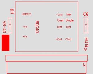 ELTIM VR-RDC40, Voltage converter/regulator module, 40W<br />Price per piece