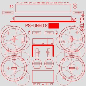 ELTIM PS-UN50S, symm. Voedingsmodule KIT, ±8A max.<br />Price per piece