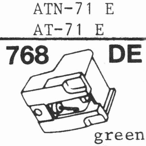 AUDIO TECHNICA ATN-71 E Stylus, DE<br />Price per piece