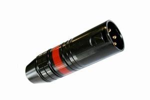 KACSA MC-945G, XLR connector male, black