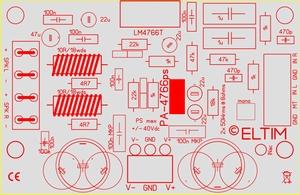 ELTIM PA-4766 LP, 2x50W Verstärker Modul<br />Price per piece