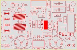 ELTIM PA-4766 ST, 2x50W Amplifier module<br />Price per piece