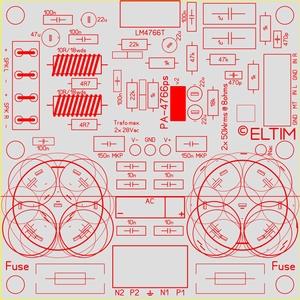 ELTIM PA-4766 FG+, 2x50W Verstärker Modul<br />Price per piece