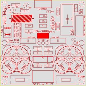 ELTIM PA-3886ps FG+, 80W Versterker/voeding module<br />Price per piece