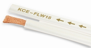 KACSA KCE-FLW15, 2x1,5mm2 OFC flatspeaker cable, pearlwhite<br />Price per meter