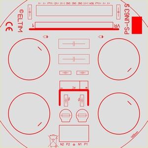 ELTIM PS-UN63S EC, Power Supply +/-63V, 15A max.