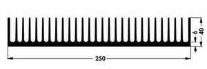 Kühlkörper V7495E, 250x50x40mm<br />Price per piece
