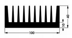 Kühlkörper PR173/100, 100x100x40mm<br />Price per piece