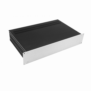 "MODU Slimline 1SL02230B, 2U/19""  silver front, 230mm deep"