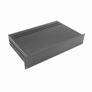 """MODU Slimline 1SL02230N, 2U/19""""  black front, 230mm deep"""