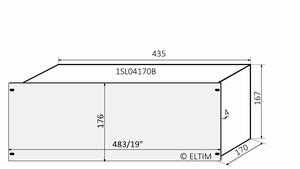 "MODU Slimline 1SL04170B, 4U/19""  silver front, 170mm deep"