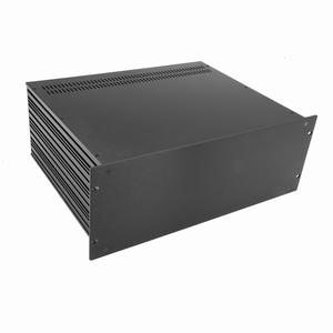 """MODU Slimline 1SL04350N, 4U/19""""  black front, 350mm deep"""