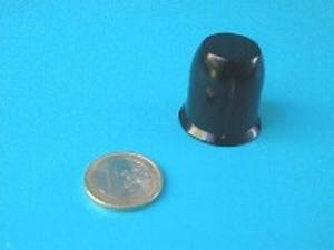 MODU gefreesde knop Ø29mm, zwart. Met de hand geborsteld<br />Price per piece