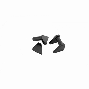 MODU Milled handles, 2U, black<br />Price per pair
