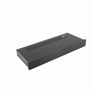 MODU Slimline 1NSL01170N, 10mm Schwarzes Front, 170mm Tief<br />Price per piece