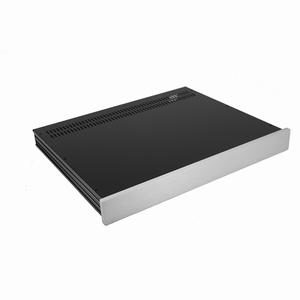 MODU Slimline 1NSL01350B, 10mm zilver front, 350mm diep<br />Price per piece